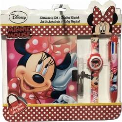 Set Minnie licence Disney Bloc Note + montre + stylo 6 couleurs idée cadeau anniversaire noel neuf