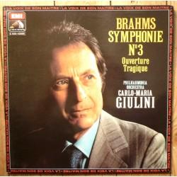 Disque Vinyle 33 tours Symphonie N°3 Ouverture Tragique - Johannes Brahms collection occasion