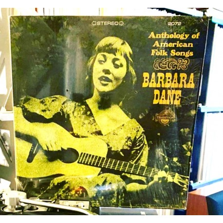 "Disque Vinyle 33 tours Barbara Dane ""Anthology of American Folk Songs"" [1967] 15 titres collection occasion"