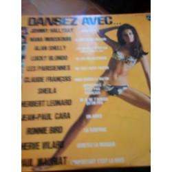 Disque Vinyle 33 tours dansez avec... Johnny Hallyday,Nana Mouskouri,Claude François... 12 titres collection occasion