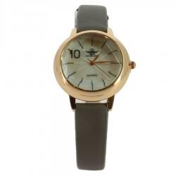 Montre à bracelet gris avec boitier en acier or rose femme idée cadeau anniversaire fête des mères noël NEUVE