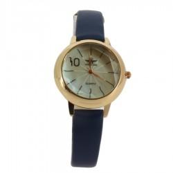 Montre à bracelet bleu avec boitier en acier or rose femme idée cadeau anniversaire fête des mères noël NEUVE