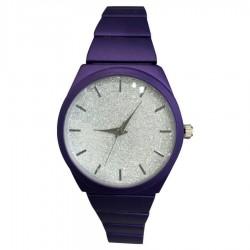 Montre bijou violet cadran pailletté et index en bâton femme idée cadeau anniversaire fête des mères noël NEUVE
