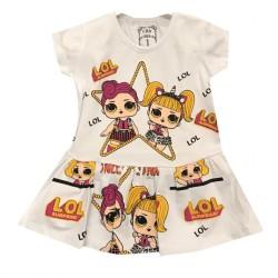 Robe en coton pour bébé du 1 ans au 4 ans imprimé LOL vêtement idée cadeau anniversaire neuve