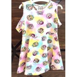 Robe en coton pour bébé du 1 ans au 4 ans imprimé LOL v02 vêtement idée cadeau anniversaire neuve