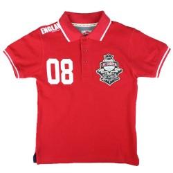 Polo manches courtes rouge licence officielle Lee Cooper du 2 au 5 ans idée cadeau anniversaire noël neuf