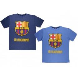 T-shirt manches courtes homme ados FC Barcelone du M au XXL marque officielle idée cadeau anniversaire noel NEUF