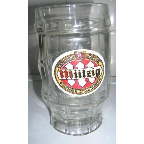 "collection lot de 4 verres a biere "" MIITZIG"" 25 cl tbe"