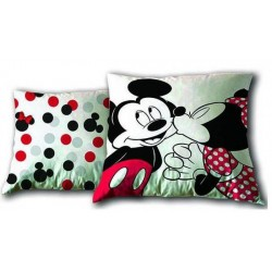 Coussin Mickey et Minnie licence officielle Disney 35 x 35 cm DECORATION CHAMBRE IDEE CADEAU ANNIVERSAIRE NOEL NEUF