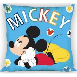 Coussin Mickey garcon licence officielle Disney 35 x 35 cm DECORATION CHAMBRE IDEE CADEAU ANNIVERSAIRE NOEL NEUF