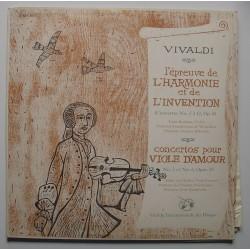Disque 2 Vinyles 33 tours L Epreuve De L Harmonie Et De L Invention (Concertos N°5 A 12)... Vivaldi occasion