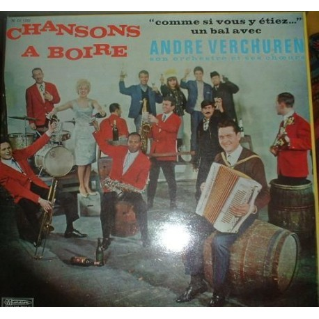 Disque Vinyle 33 tours Chansons A Boire - André Verchuren et son orchestre 25 titres collection occasion