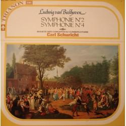 Disque Vinyle 33 tours Symphonies N°2 Et N°4 , Société Des Concerts Du Conservatoire Schuricht -Beethoven collection occasion