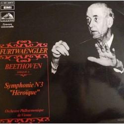 """Disque Vinyle 33 tours Beethoven - Furtwaengler Orchestre Philharmonique De Vienne Symphonie N° 3 """"Héroïque"""" collection occasion"""