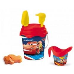 Seau de plage bac a sable Cars Flash Mc Queen + accessoires 6 pièces licence Disney enfant plein air neuf