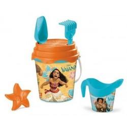 Seau de plage bac a sable Vaiana + accessoires 6 pièces licence Disney enfant plein air neuf
