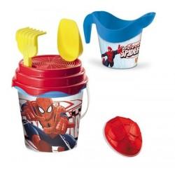 Seau de plage bac a sable Spiderman + accessoires 6 pièces licence Marvel enfant plein air neuf