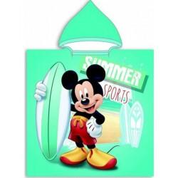 Poncho serviette de bain à capuche microfibre Mickey Disney plage piscine sortie de bain idée cadeau anniversaire noel neuf