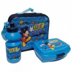 Sac Isotherme Mickey v02 avec boîte à goûter et gourde assorties licence officielle Disney neuf