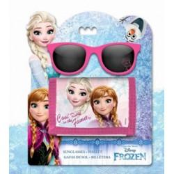 Set Lunette de soleil et porte-monnaie La Reine des Neiges Disney fille neuf