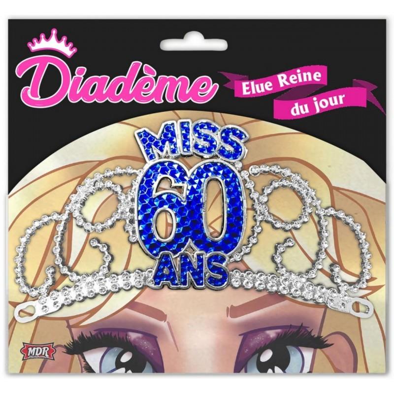 Diadème Miss Anniversaire 60 Ans Idee Cadeau Anniversaire Deguisement Fête Neuf Amzalancom