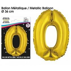 Ballons métalliques géant OR chiffre 0 ANNIVERSAIRE DECORATION DE SALLE FÊTE NEUF