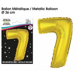 Ballons métalliques géant OR chiffre 7 ANNIVERSAIRE DECORATION DE SALLE FÊTE NEUF