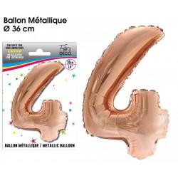 Ballon métallique géant Cuivre chiffre 4 ANNIVERSAIRE DECORATION DE SALLE FÊTE NEUF