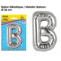 Ballon métallique géant Argent Lettres et Symboles lettre B DECORATION DE SALLE ANNIVERSAIRE FÊTE MARIAGE RETRAITE NEUF