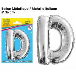 Ballon métallique géant Argent Lettres et Symboles lettre D DECORATION DE SALLE ANNIVERSAIRE FÊTE MARIAGE RETRAITE NEUF