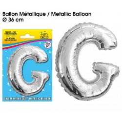 Ballon métallique géant Argent Lettres et Symboles lettre G DECORATION DE SALLE ANNIVERSAIRE FÊTE MARIAGE RETRAITE NEUF