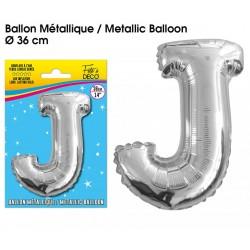 Ballon métallique géant Argent Lettres et Symboles lettre J DECORATION DE SALLE ANNIVERSAIRE FÊTE MARIAGE RETRAITE NEUF