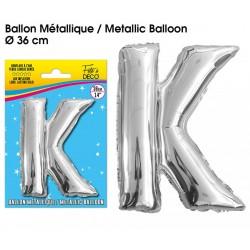 Ballon métallique géant Argent Lettres et Symboles lettre K DECORATION DE SALLE ANNIVERSAIRE FÊTE MARIAGE RETRAITE NEUF