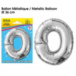 Ballon métallique géant Argent Lettres et Symboles lettre O DECORATION DE SALLE ANNIVERSAIRE FÊTE MARIAGE RETRAITE NEUF