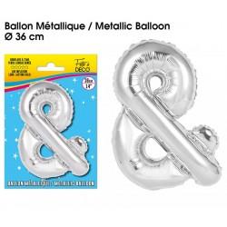 Ballon métallique géant Argent Lettres et Symboles lettre & DECORATION DE SALLE ANNIVERSAIRE FÊTE MARIAGE RETRAITE NEUF