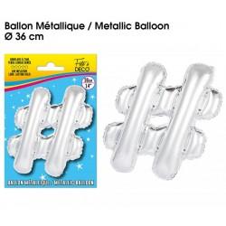 Ballon métallique géant Argent Lettres et Symboles lettre # DECORATION DE SALLE ANNIVERSAIRE FÊTE MARIAGE RETRAITE NEUF