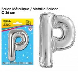 Ballon métallique géant Argent Lettres et Symboles lettre P DECORATION DE SALLE ANNIVERSAIRE FÊTE MARIAGE RETRAITE NEUF