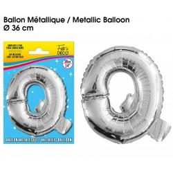 Ballon métallique géant Argent Lettres et Symboles lettre Q DECORATION DE SALLE ANNIVERSAIRE FÊTE MARIAGE RETRAITE NEUF