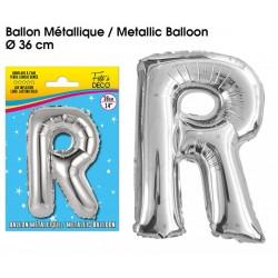 Ballon métallique géant Argent Lettres et Symboles lettre R DECORATION DE SALLE ANNIVERSAIRE FÊTE MARIAGE RETRAITE NEUF