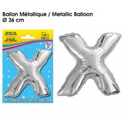 Ballon métallique géant Argent Lettres et Symboles lettre X DECORATION DE SALLE ANNIVERSAIRE FÊTE MARIAGE RETRAITE NEUF