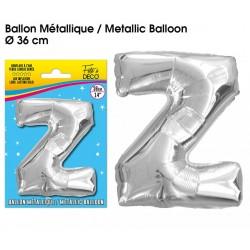Ballon métallique géant Argent Lettres et Symboles lettre Z DECORATION DE SALLE ANNIVERSAIRE FÊTE MARIAGE RETRAITE NEUF