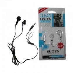 Ecouteurs stéréo pour mp3/mp4,iPhone,ordinateurs portables,périphériques audio/vidéo avec prise audio 3,5 mm neuf