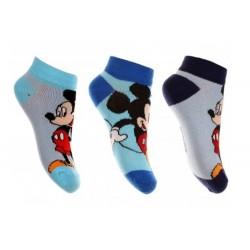 Lot de 3 Paires de chaussettes socquettes garcon Mickey Disney 23-26, 27-30, 31-34 licence officielle neuve