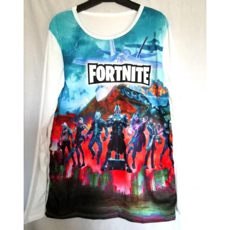 T shirt manche longue garçon integral sublimation Fortnite v01 du 6 ans au 16 ans idée cadeau anniversaire noel neuf
