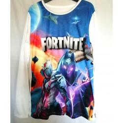 T shirt manche longue garçon integral sublimation Fortnite v02 du 6 ans au 16 ans idée cadeau anniversaire noel neuf