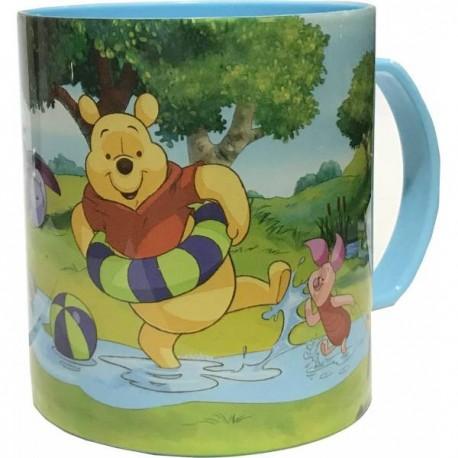 Tasse Mug plastique avec poignet winnie l'ourson disney 350 ml passe au micro onde et lave vaisselle neuve