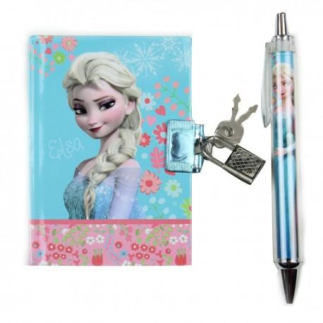 Set La Reine des Neiges Frozen journal intime + stylo licence Disney idée cadeau anniversaire noel neuf