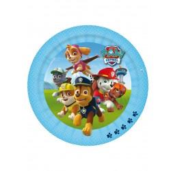 Lot de 8 Assiettes en carton Pat Patrouille Paw Patrol bleu 23 cm jetable enfant gouter anniversaire fête neuve