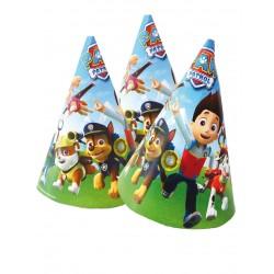 cartonnée Lot de 6 Chapeaux de fête Pat Patrouille Paw Patrol jetable enfant gouter anniversaire fête neuf