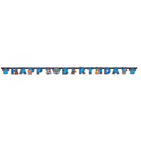Guirlande Happy Birthday Pat Patrouille Paw Patrol 15 cm x 2 m enfant gouter anniversaire fête neuve
